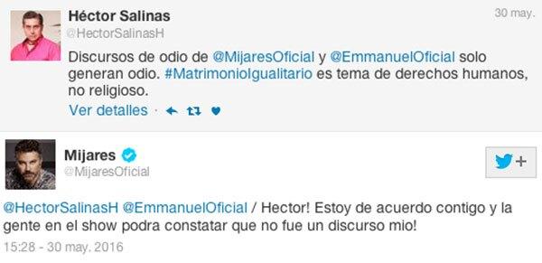 Mijares se deslindó de cualquier responsabilidad en Twitter.