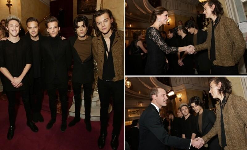 One Direction fueron los invitados para amenizar la velada y uno de sus miembros, Harry Styles, conoció formalmente a la pareja real.