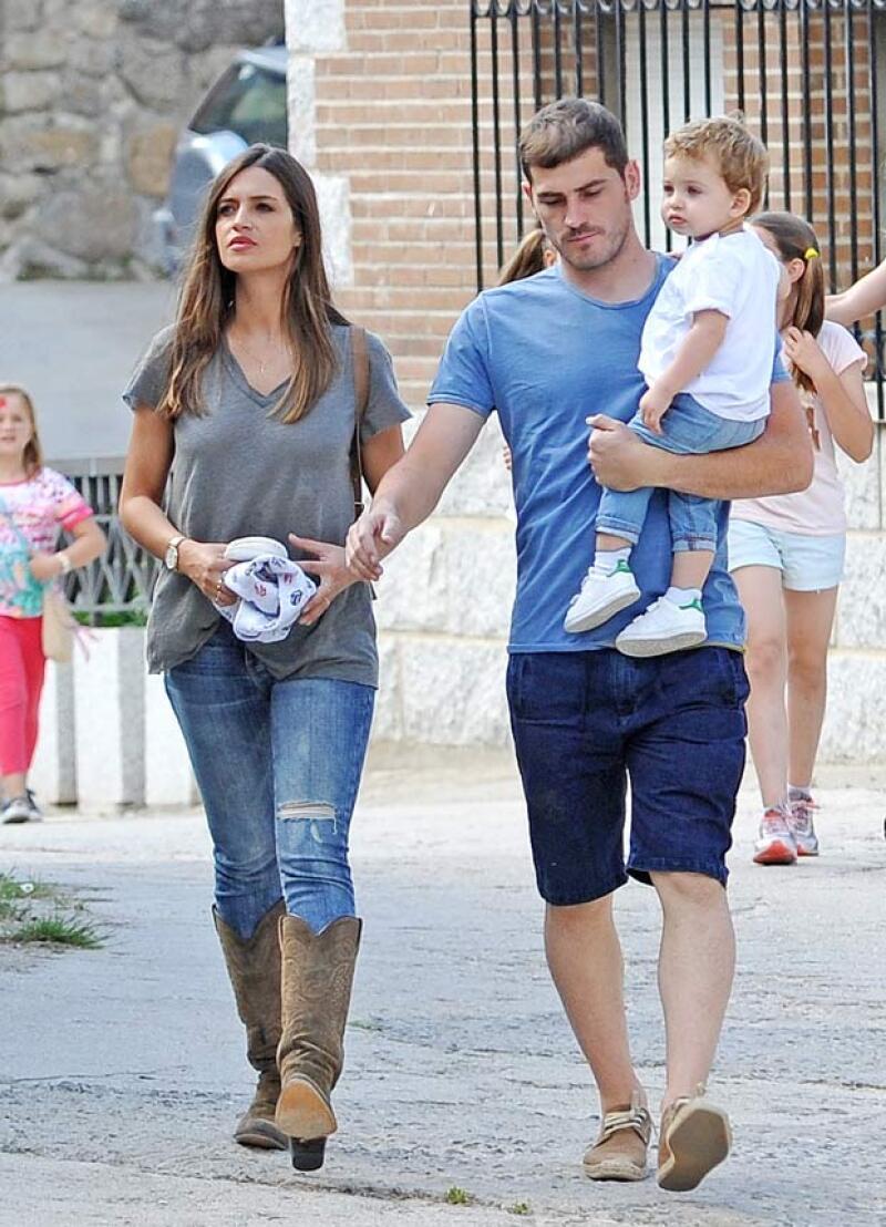 La pareja pasó el fin de semana en esta localidad de España junto con su hijo Martín.