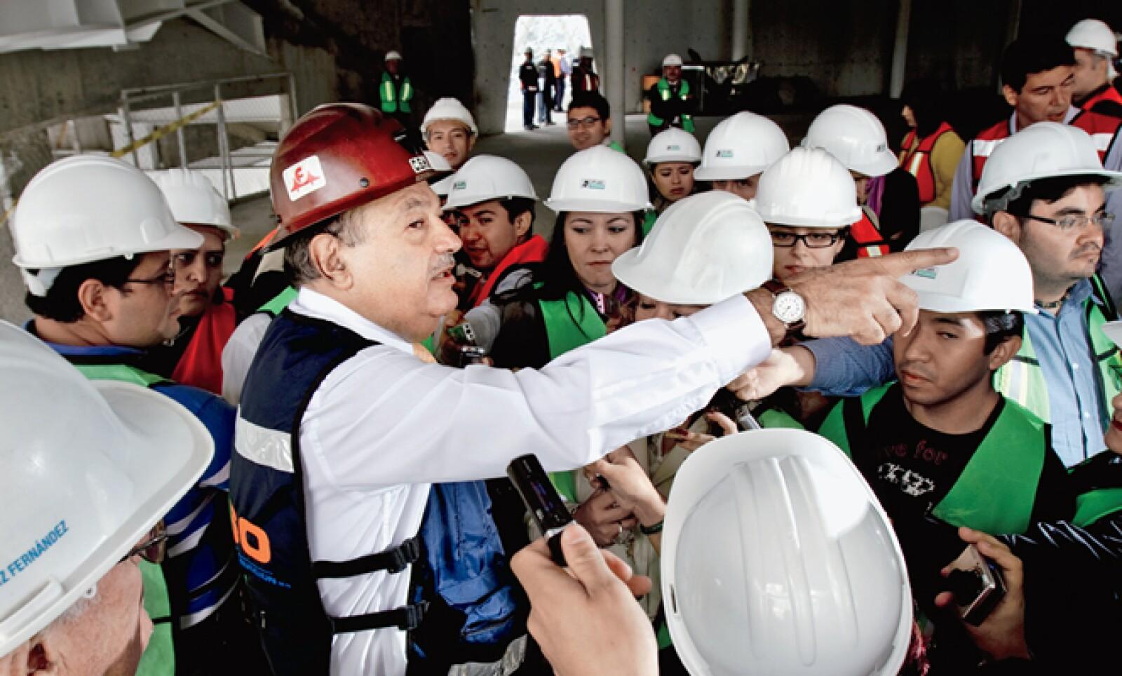 Carlos Slim espera Plaza Carso detone la urbanización de la zona que algunos llaman 'la nueva Polanco'. Junto con el Gobierno del DF planean construir parques lineales y un vehículo colectivo.