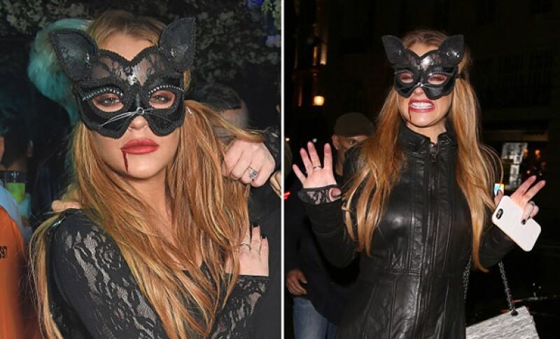 Cady who? Lindsay lució de lo más hot con este outfit en una fiesta de disfraces.