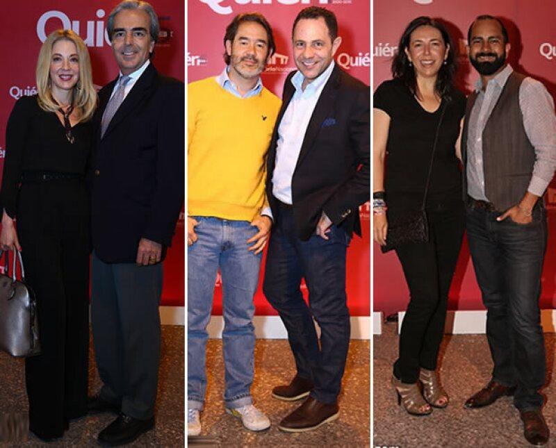 Edith González y Lorenzo Lazo, Mako Mancarrow y Sergio Berger, Laura Manzo,David Maza