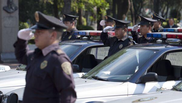 Policías en Benito Juárez