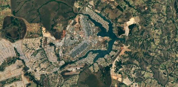 La calidad en las imágenes es superior a la anterior. Así luce el mapa de Brasilia, Brasil.
