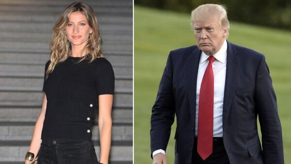 Gisele Bündchen y Donald Trump