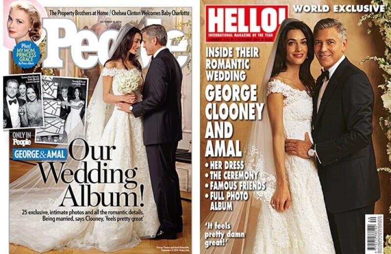 Dicen que el actor decidió dar las imágenes exclusivas de su boda con Amal Alamuddin al mejor postor pues quería conseguir el mayor dinero posible.
