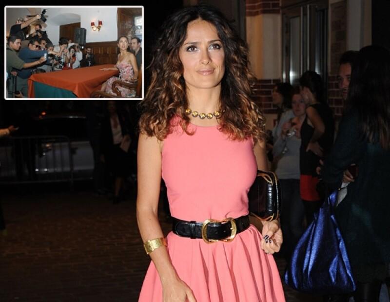 Salma Hayek estuvo en la primera edición del Festival de cine de Morelia.