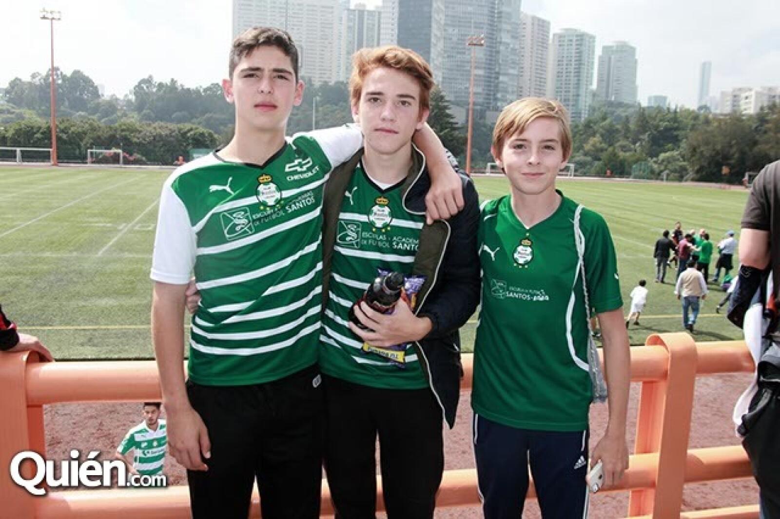 Patricio Fernández,Patricio Quintero y Lucas Rodríguez