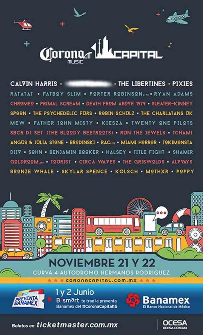 Calvin Harris, The Libertines, Pixies y una banda sorpresa, estarán presentes en la sexta edición de uno de los festivales más importantes de México, ahora con nueva fecha.