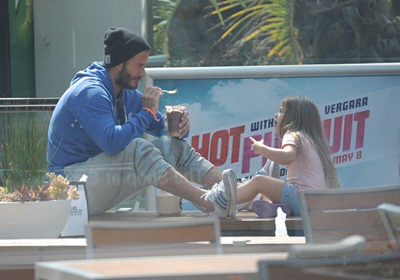 Los ice cream dates son algo cotidiano en la relación padre-hija de David y Harper.