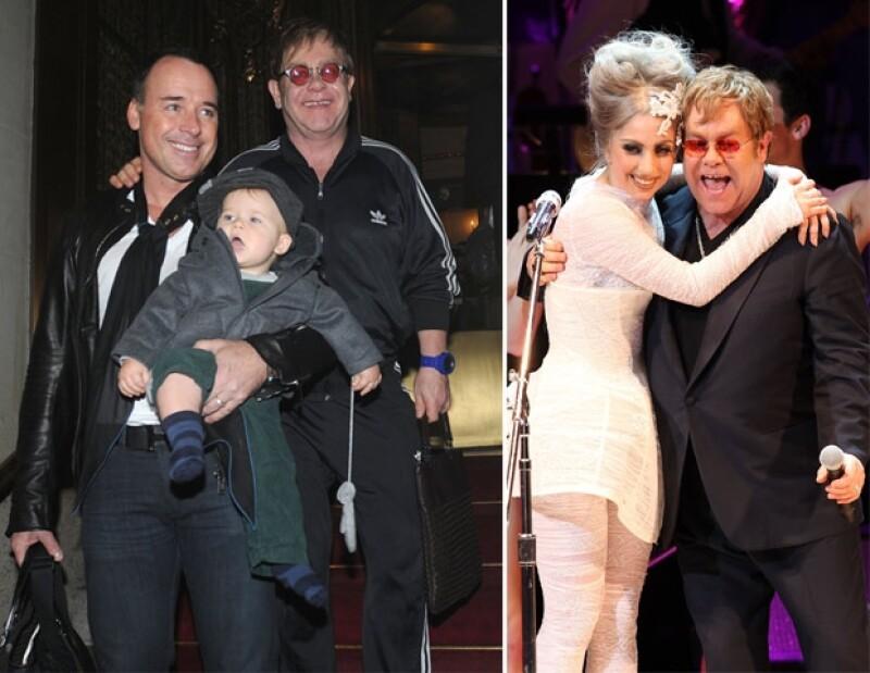 Gaga y Elton John tienen una relación muy cercana, tantos que ambos han dicho que tienen almas similares.