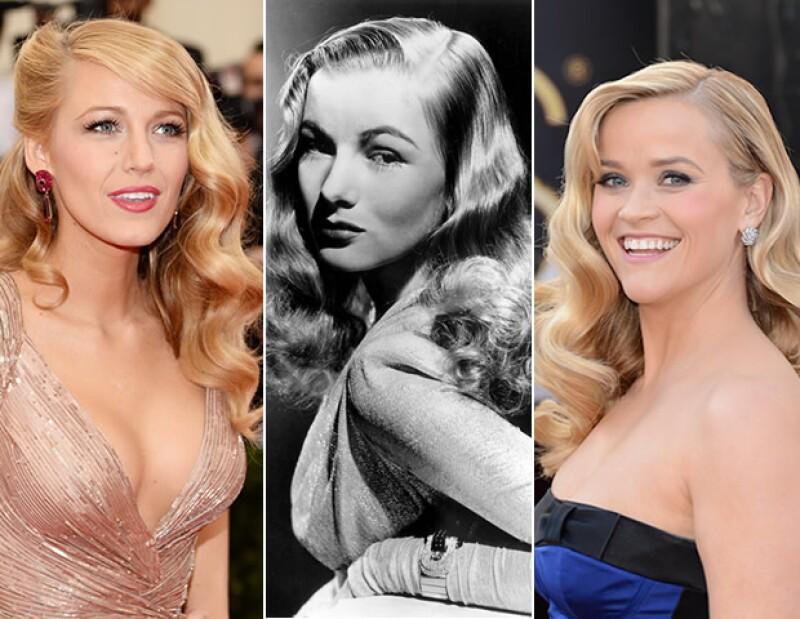 Veronica Lake es una de las actrices que llevaba el pelo así. Hoy en día, hemos visto a Blake Lively ya Reese Witherspoon con este `Old Hollywood´ look.