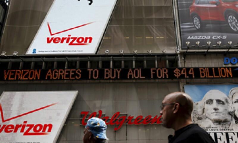 Sin la compra de AOL, los ingresos de Verizon hubieran aumentado sólo 3.1%. (Foto: Reuters)