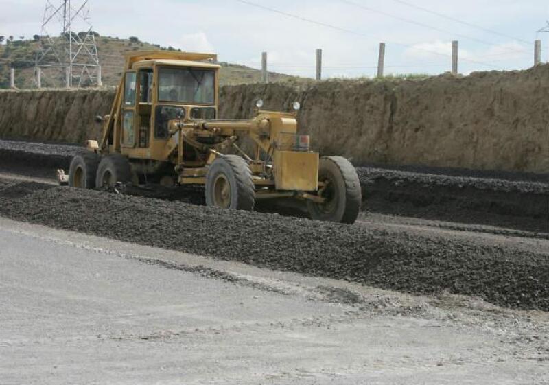 carretera en construcci�n