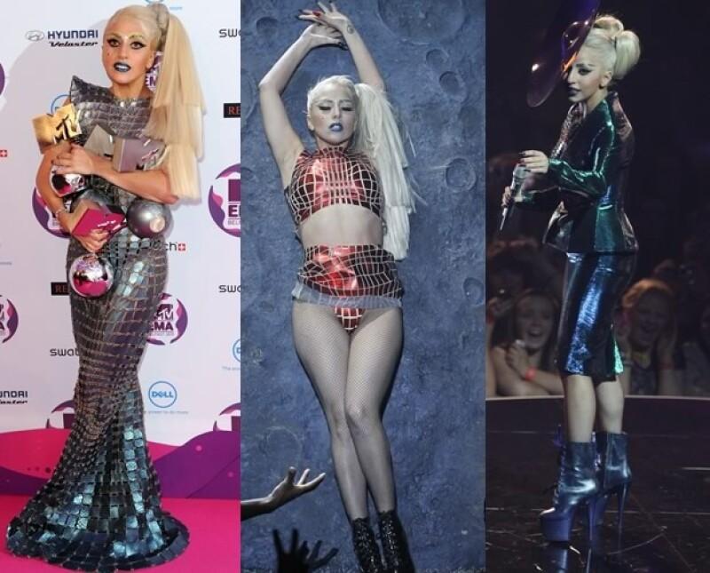 Lady Gaga se cambió varias veces de vestuario.