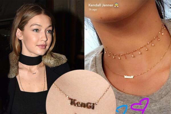 El símbolo de su amistad: Un collar de oro con su apodo escrito.