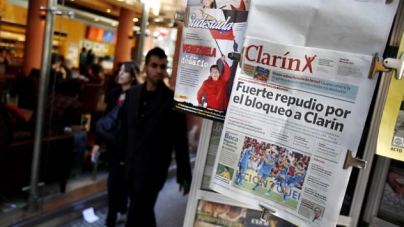 El diario Clarin repudia bloqueo