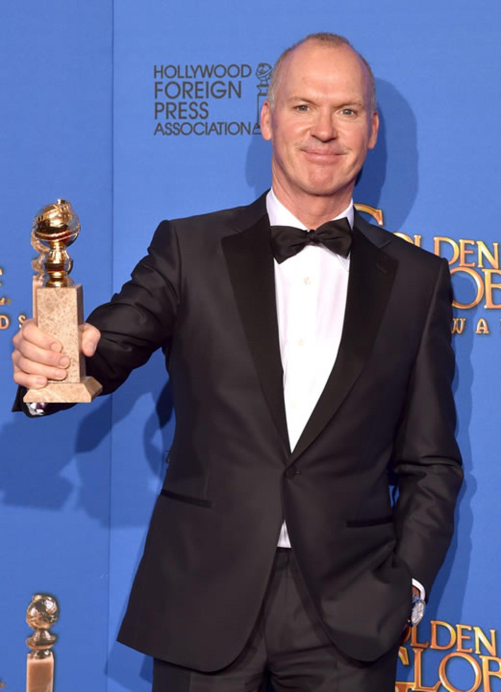Michael Keaton se llevó el premio Mejor actor en una película de comedia por Birdman.