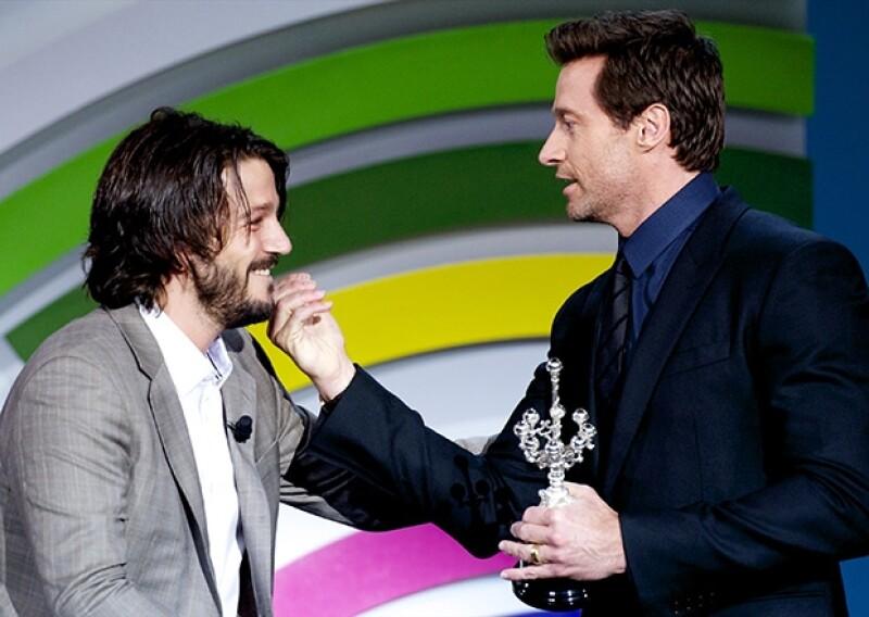 Diego Luna entregó este viernes al actor australiano un premio después de haber sido la figura más ovacionada del Festival de Cine de San Sebastián.