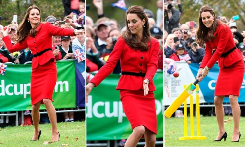 Este lunes los duques se enfrentaron en un partido de críquet.