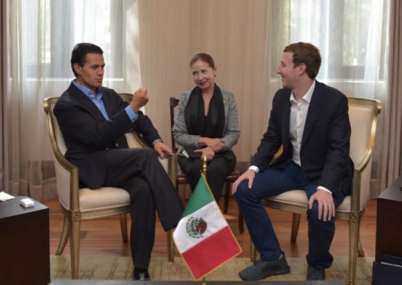 EPN dijo querer realizar proyectos en México en conjunto con Facebook.