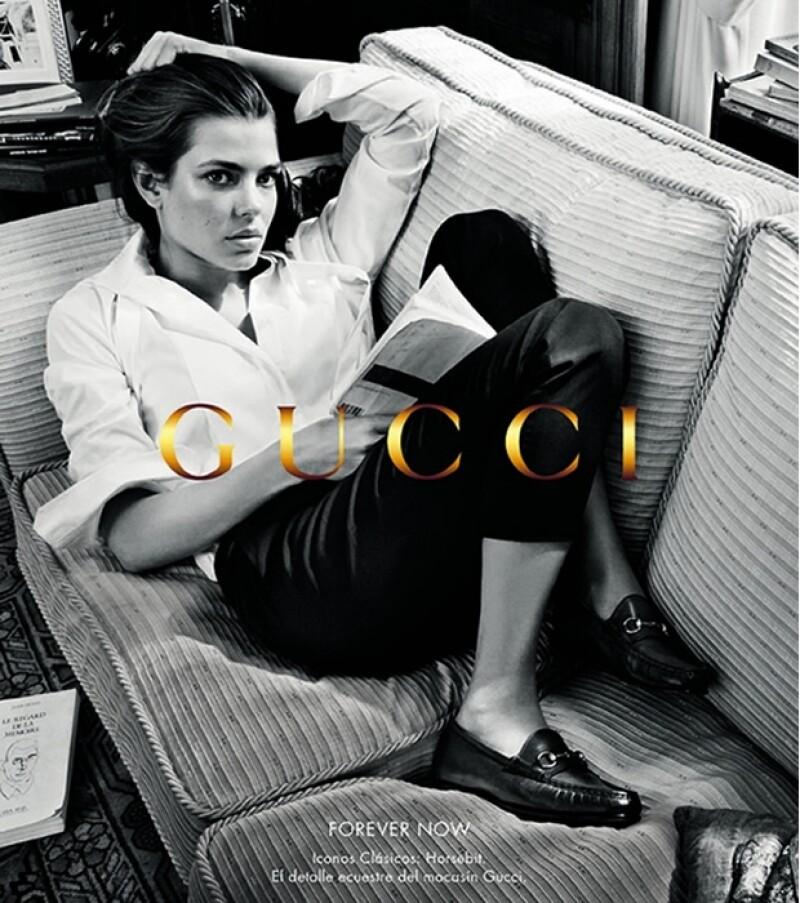 La hija de Carolina de Mónaco, quien oficialmente no goza de título de princesa, sorprendió con el gran parecido a su abuela en la nueva campaña publicitaria de la casa italiana, Gucci.