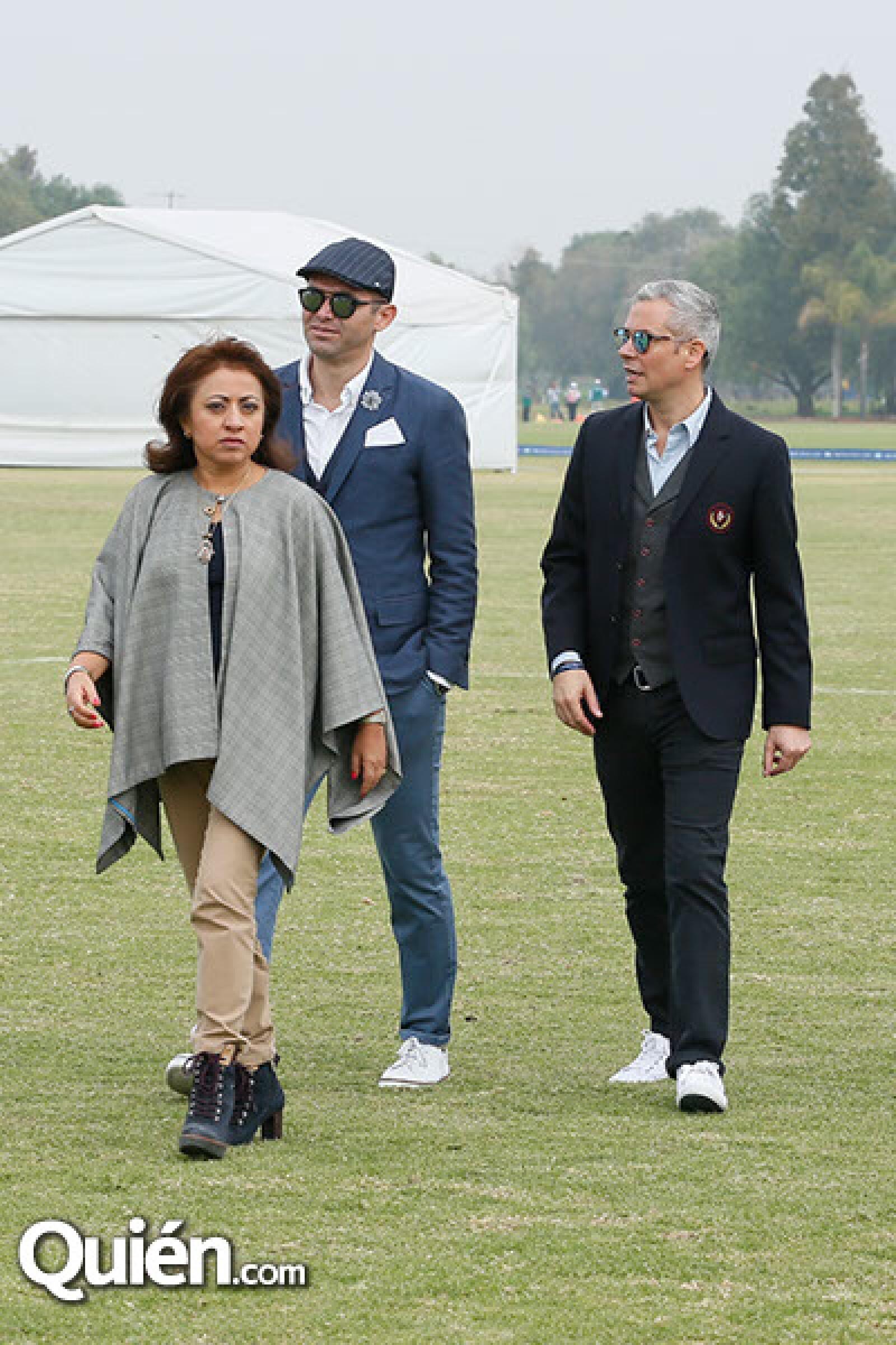 Anel García,Lorenzo Ruiz y Guillermo Rojas