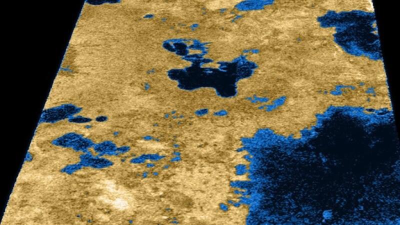 Titan, Saturno, lagos de metano, nasa