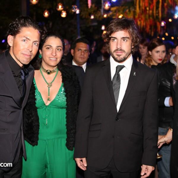 Fernando Romero, Soumaya Slim, Fernando Alonso y Concha Orvañanos