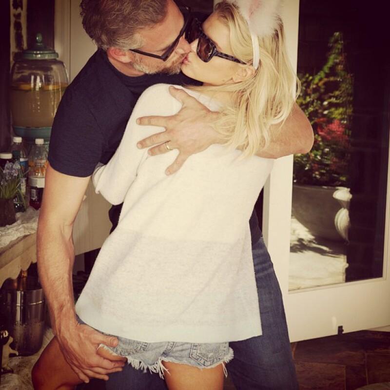 Esta fue una de las fotos que Jessica compartió con su esposo, Eric.