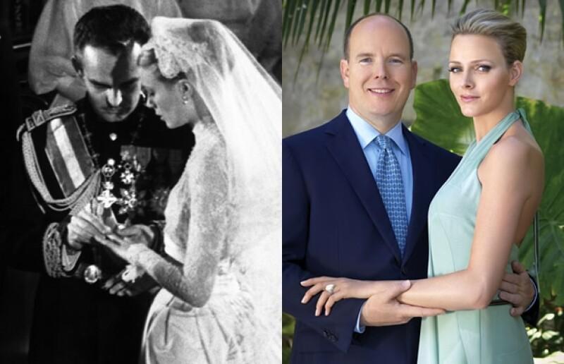 A cinco días de la boda del príncipe Alberto con Charlene Wittstock, hacemos un repaso de las similitudes y diferencias de su boda y la de su papá, el príncipe Rainiero, y la actriz Grace Kelly.