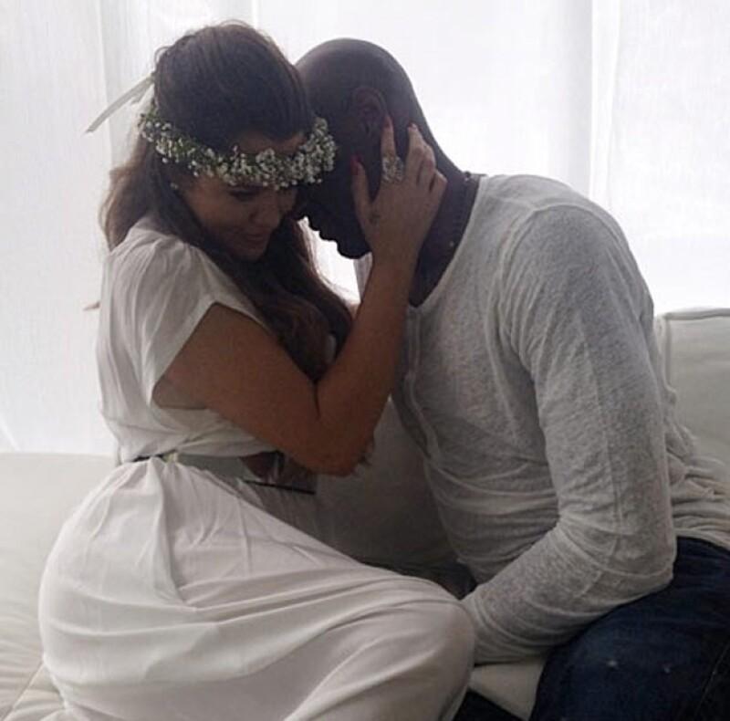 Khloé y Lamar no dejaron de mostrar su amor.