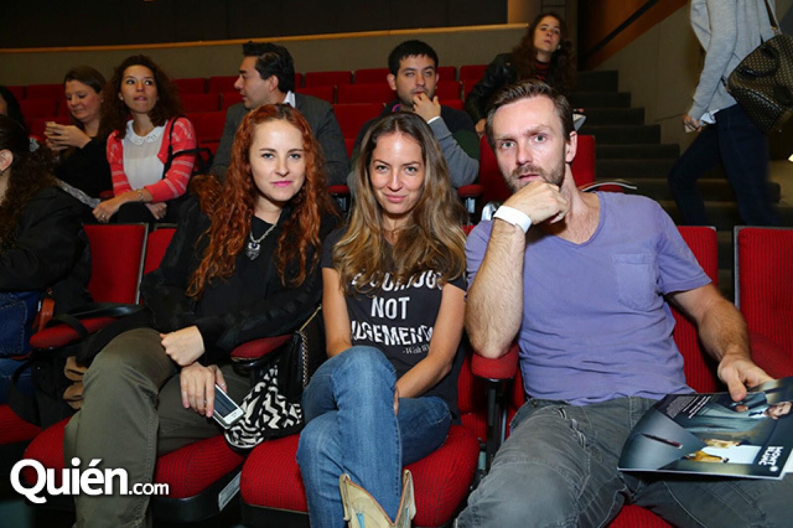 Ximena Romero,Gabriel Villalba y Marcelo Knez