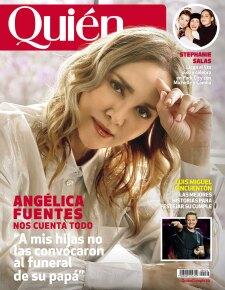 Angélica Fuentes en portada de Quién