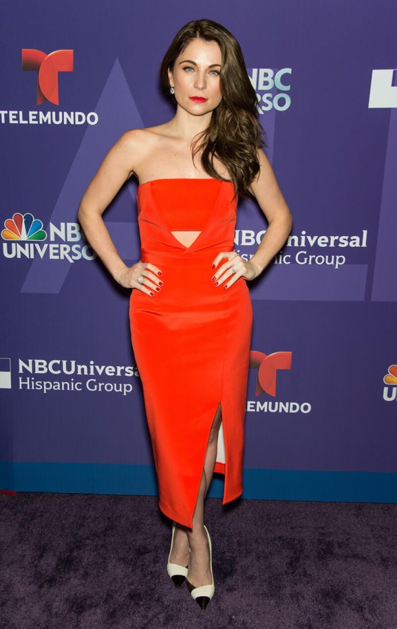 La actriz fue presentada este martes como protagonista de la serie La Querida del Centauro de Telemundo.