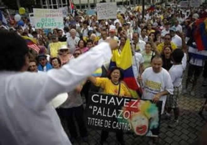 El mandatario venezolano expresó su rechazo a las manifestaciones en su contra. (Reuters)