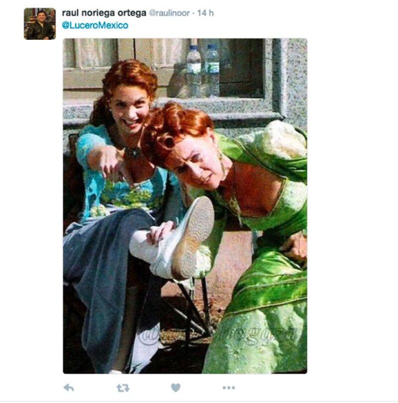 Varios de los fans de Lucero compartieron imágenes de las actrices.