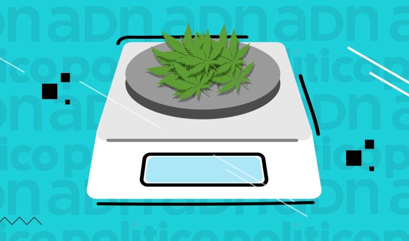 Marihuana en báscula