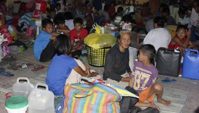 Filipinas evacuados Hagupit