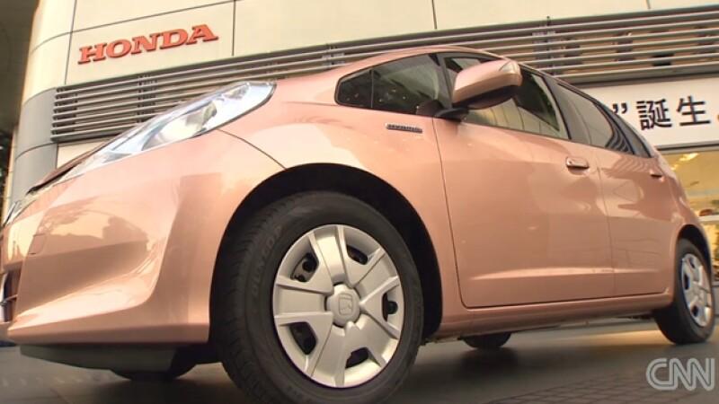 auto, color, rosa, honda