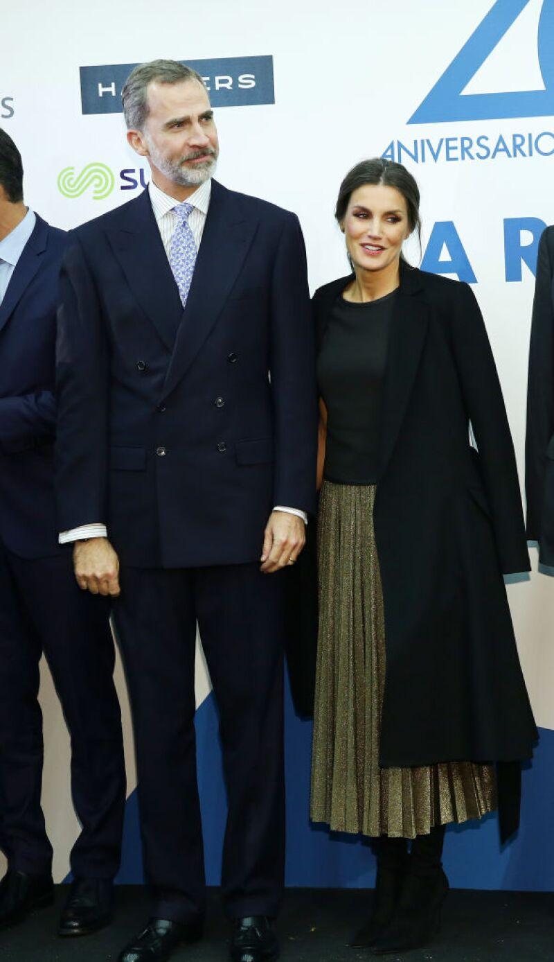 Rey Felipe, reina Letizia de España.