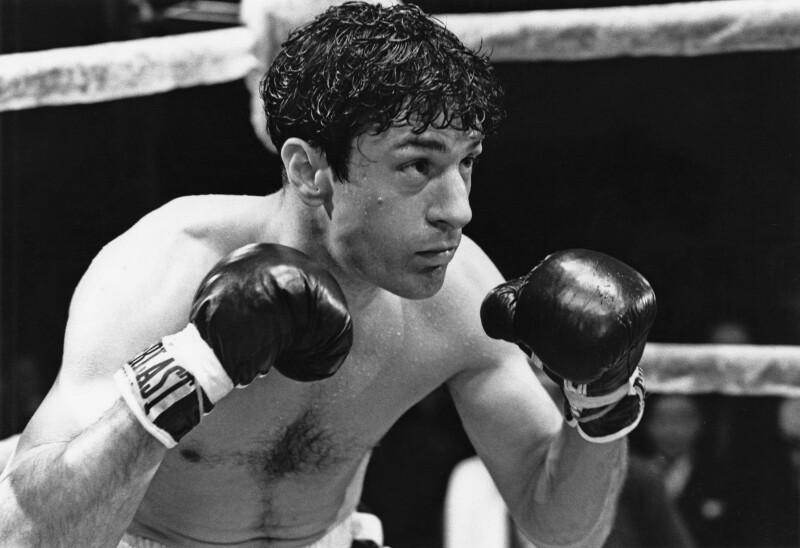 Robert De Niro como Jake LaMotta en Raging Bull (1980)