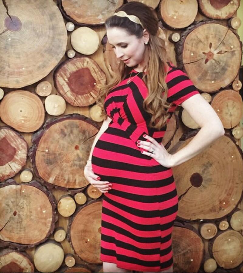 Embarazo fashionista: Andrea con ocho meses y medio.