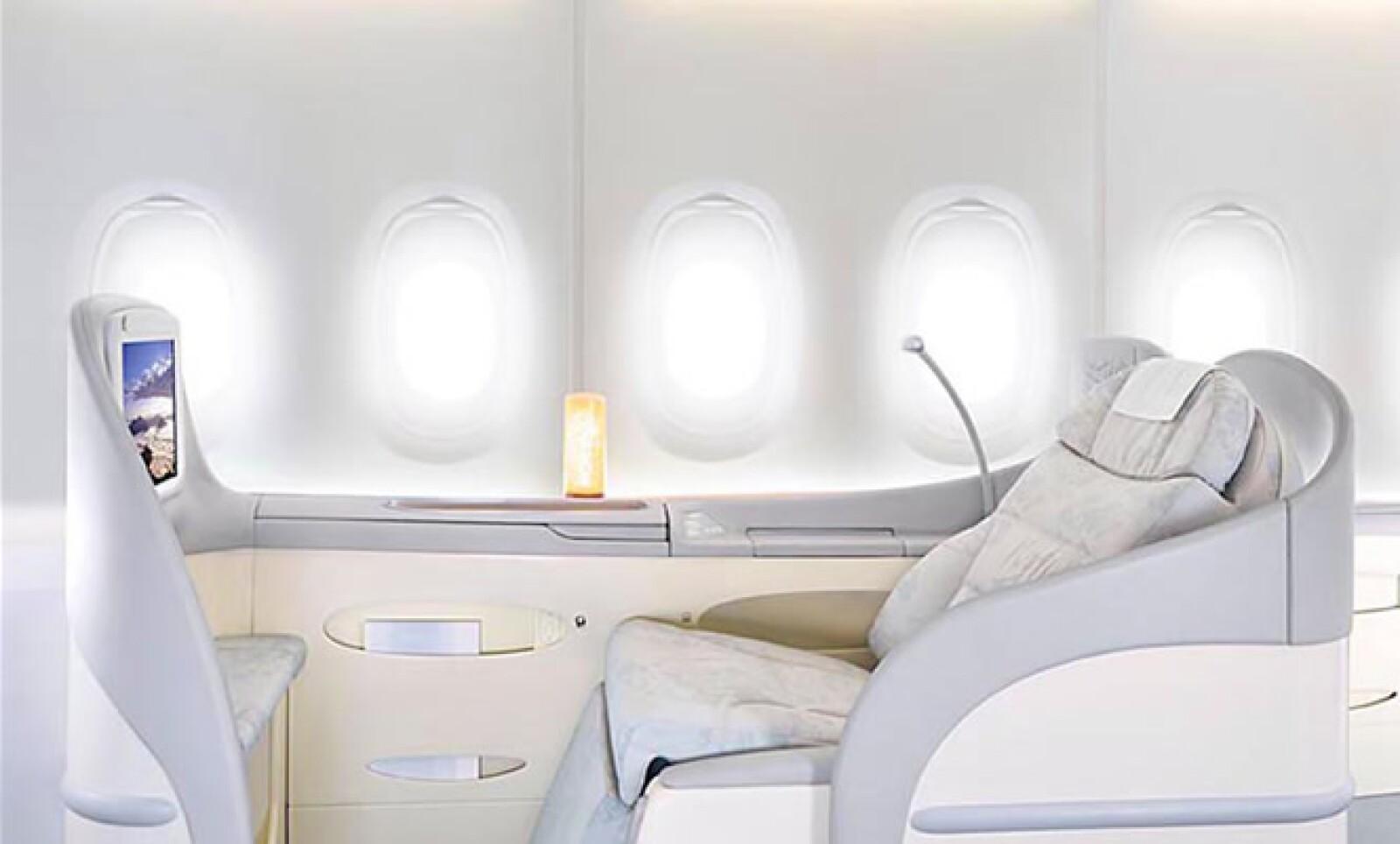 La cabina está dividida en 15 zonas de control de temperatura diferentes, que van desde los 18° hasta los 30°.