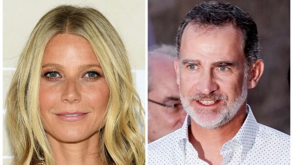 Gwyneth Paltrow y el Rey Felipe de España