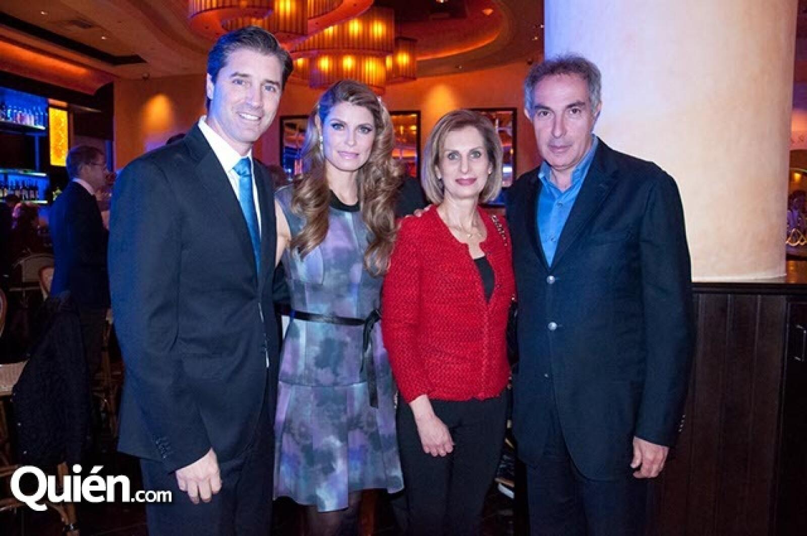 Victor y Mónica Barreiro con Susy y Moisés Farca
