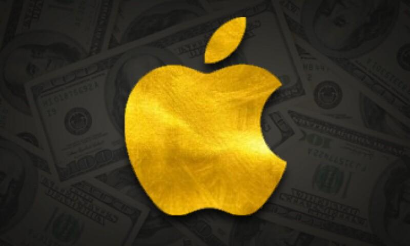 Las acciones de Apple cerraron con avance 1.92% el martes.  (Foto: Especial )