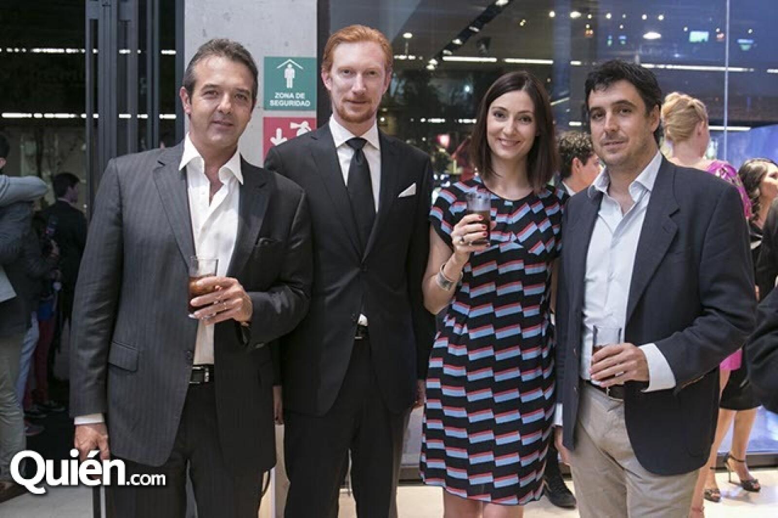Poli Luca,Federcio Pasquetto,Francesca Blasone y Javier Brandoli