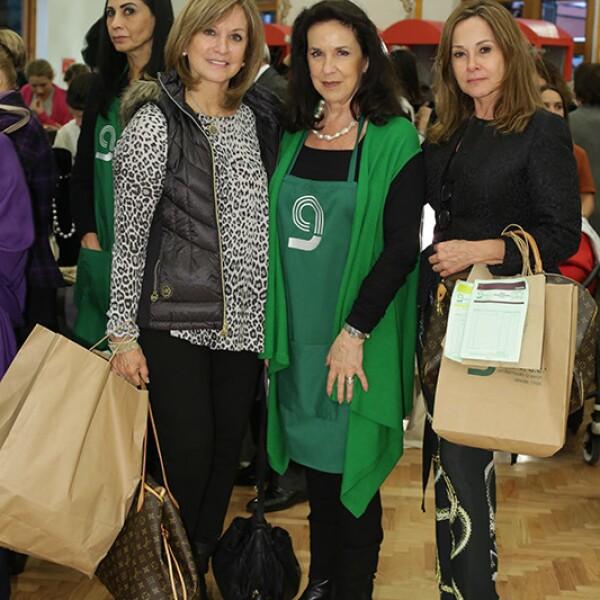 Lupina Hinojosa,Dulce María Martínez Gama y Rocío Garza