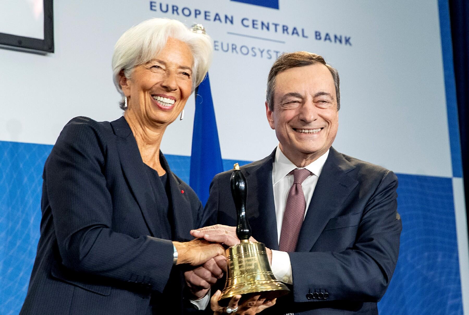 Mario Draghi Christine Lagarde